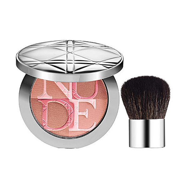 Dior skin nude shimmer instant illuminating powder rose 001