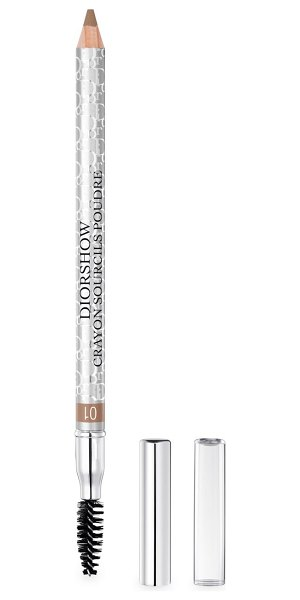 Dior waterproof eyebrow pencil with built-in brush & sharpener in brown