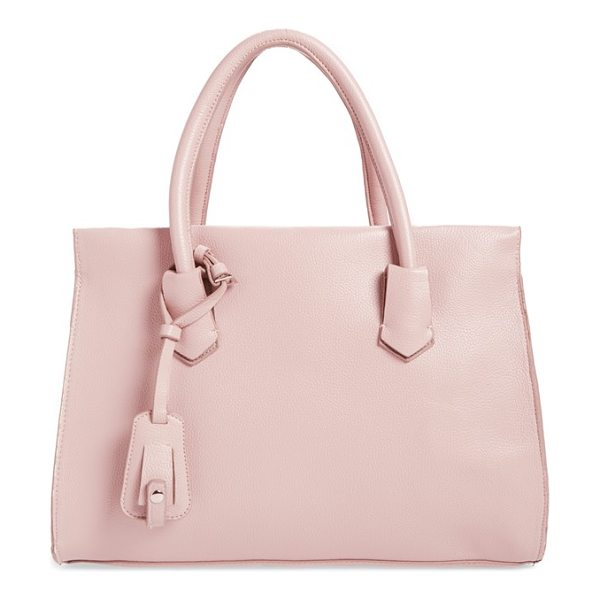 Dirty Ballerina Faux leather tote in blush - This packable, structured, faux-leather tote features a...