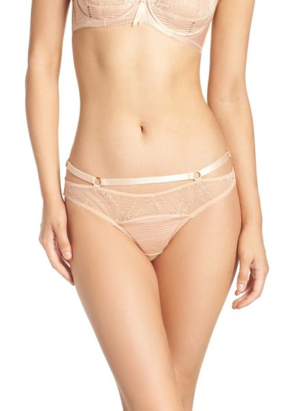 Dita Von Teese g-string thong in creme caramel - Pinup-worthy flourishes add that signature vintage...