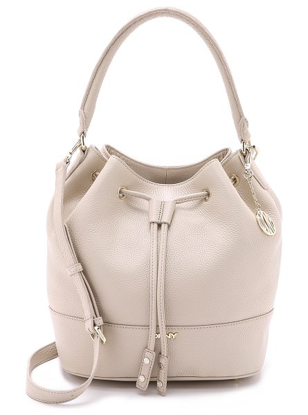 DKNY Drawstring bucket bag in sand