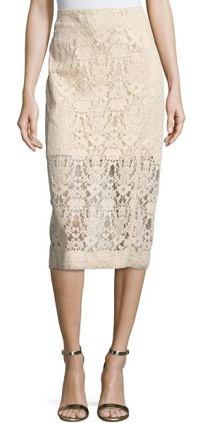 DKNY Floral Tulle Midi Skirt - DKNY midi skirt in floral tulle. Fitted, pencil...