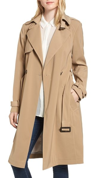 Donna Karan dkny french twill water resistant trench coat in khaki - The quintessential trench coat gets a reboot with...