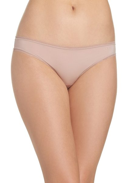 DKNY low rise bikini in shell - Mesh trim looks ultramod and gives an ultra-smooth fit...