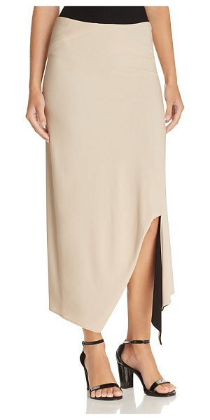 DKNY Reversible Asymmetric Maxi Skirt in nude - Dkny Reversible Asymmetric Maxi Skirt-Women