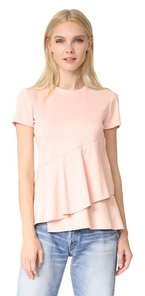 DKNY ruffle top in blush