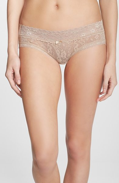DKNY signature lace bikini - Sheer lace in two different floral patterns defines a...