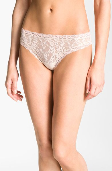 DKNY signature lace thong in pretty nude