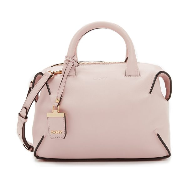 DKNY Williamsburg small satchel in light pink - A simple DKNY satchel with a boxy look, rendered in rich...