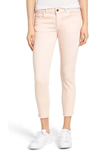 DL 1961 1961 florence instasculpt crop jeans in hibiscus - Cropped pants in a pastel hue are made from a stretchy...