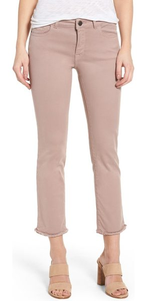 DL 1961 1961 mara ankle straight leg jeans in dusty rose - Sleek and timeless straight-leg jeans are finished with...
