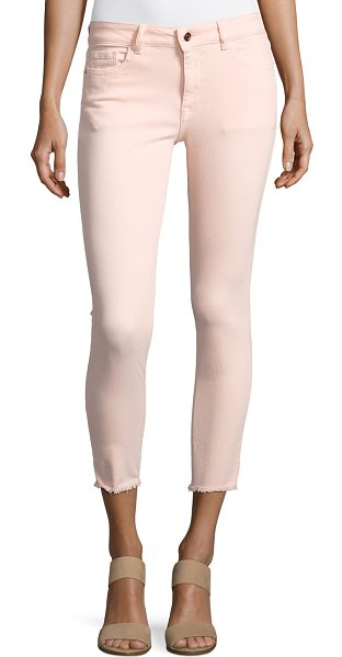 "DL 1961 Florence Instasculpt Cropped Jeans in pink - DL 1961 ""Florence"" jeans in pink-washed denim. Approx...."