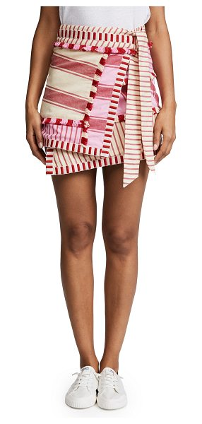 DODO BAR OR hoze skirt in red and pink - Fabric: Plain weave Stripe pattern Cover-up skirt Mini...