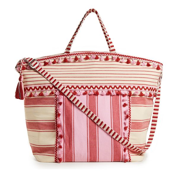 DODO BAR OR lydia tote - Fabric: Linen Zip at top Patch interior pockets Zip...