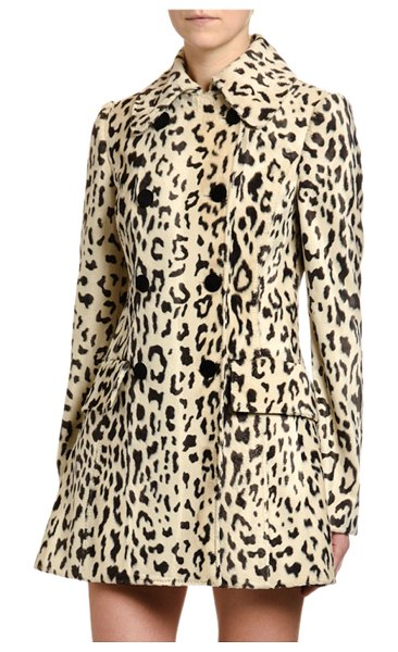 Dolce & Gabbana Double-Breasted Faux-Fur Coat in leopard
