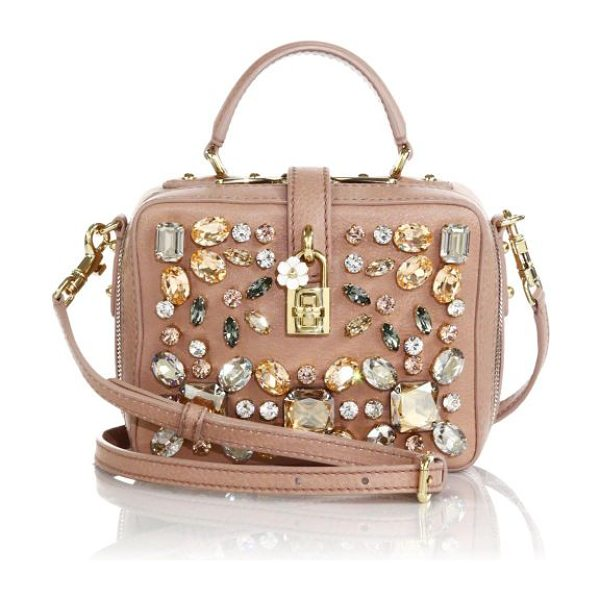 DOLCE & GABBANA Embellished camera bag - A dazzling array of multi-shaped crystals illuminates...