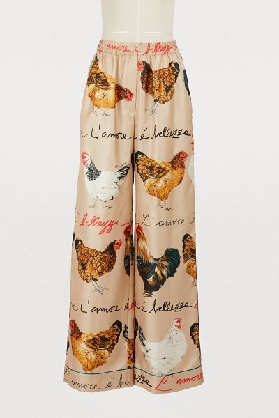 Dolce & Gabbana Hans printed silk pants in beige - These Hans printed silk pants are the centerpiece of the...