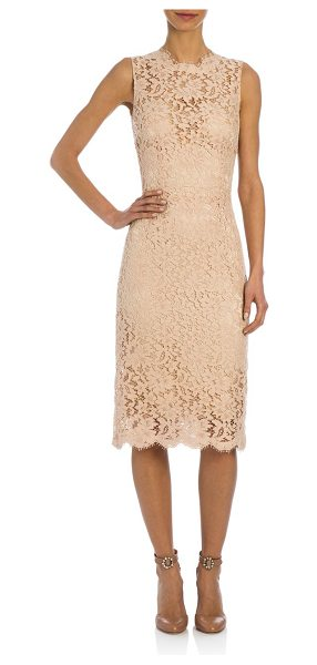 Dolce & Gabbana Jackie lace dress in palepink