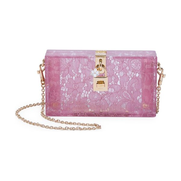 3c9ba9c25c0b Dolce   Gabbana lace box bag in pink - Beautiful evening bag