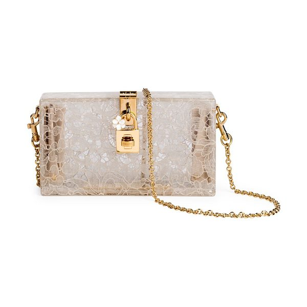 DOLCE & GABBANA lace box bag - Beautiful evening bag, in lace-lined plexiglass....
