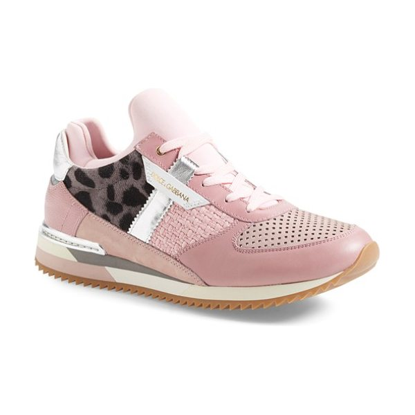 Dolce & Gabbana mailica sneaker in blush - A streetwise sneaker earns its couture credentials with...