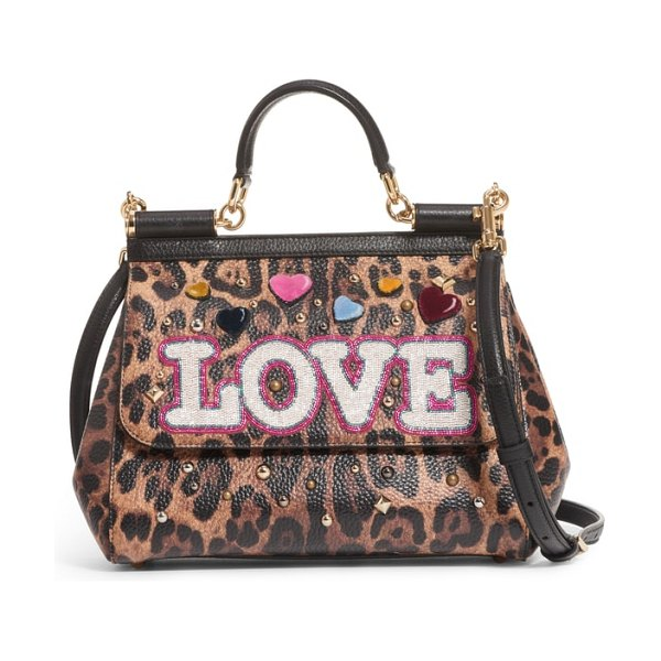Dolce & Gabbana medium miss sicily in leopard print/ black - Fall wildly in love with this iconic leather satchel...