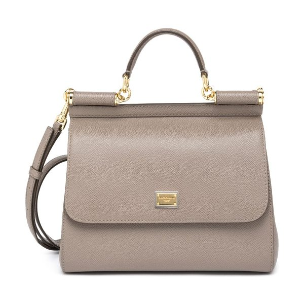 Dolce & Gabbana miss sicily large top-handle satchel in beige - Simple yet sophisticated, this top-handle Miss Sicily is...