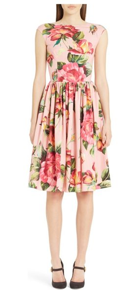Dolce & Gabbana rose print cotton poplin dress in rose print - Classically feminine and utterly charming, this...