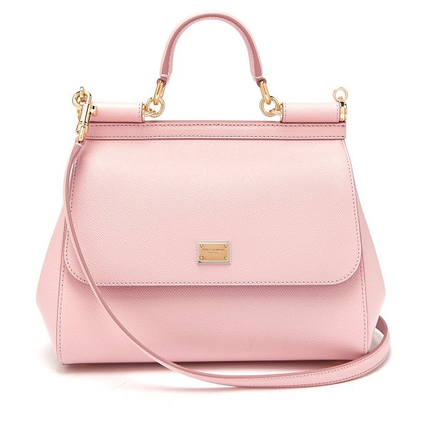 Dolce & Gabbana Sicily Medium Dauphine Leather Bag in light pink - Dolce & Gabbana - The elegant shape of Dolce & Gabbana's...