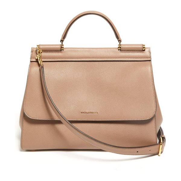 Dolce & Gabbana sicily small leather bag in dusty pink