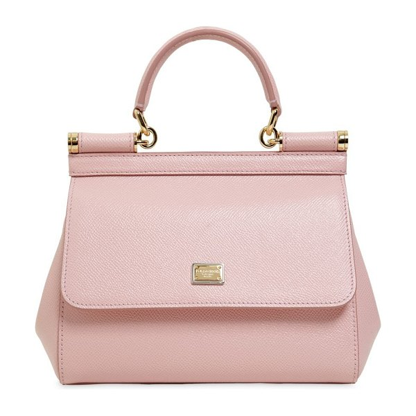Dolce   Gabbana Small sicily dauphine leather bag in pink - Height  16cm  Width  bce3324d4d