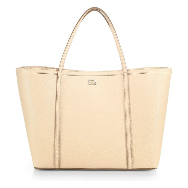 Dolce & Gabbana Textured leather tote in lightpink - Just because a bag is exceedingly practical doesn't mean...
