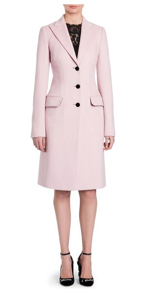 Dolce & Gabbana wool coat in blush pink - The classic wool coat receives a svelte recreation with...