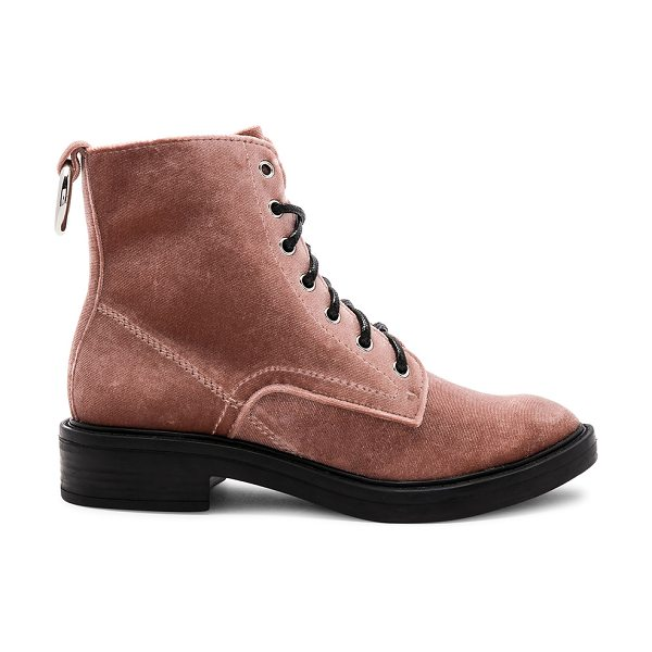 "Dolce Vita Bardot Boot in rose - ""Velvet upper with man made sole. Lace-up front. Heel..."