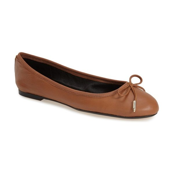 Dolce Vita brae ballet flat in saddle leather - Polished metallic hardware highlights the dainty bow...