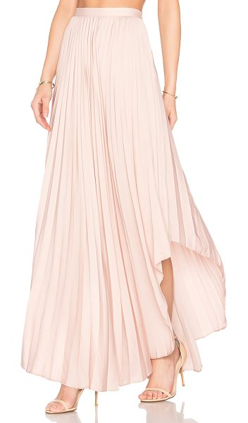 Dolce Vita Camryn Maxi Skirt in dusty rose - Poly blend. Hand wash cold. Unlined. Pleated fabric....