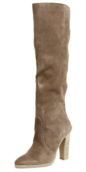 DOLCE VITA celine knee high stacked heel boots - These knee-high Dolce Vita boots are rendered in supple...