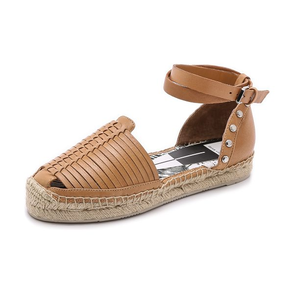 DOLCE VITA Ceyla dorsay espadrilles in caramel - These leather Dolce Vita espadrilles have a bolt trimmed...