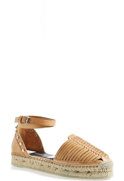 DOLCE VITA ceyla leather ankle strap espadrille in caramel - Beautifully combining elements of the espadrille and the...