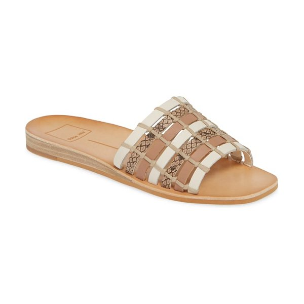 Dolce Vita colsen slide sandal in brown - A woven strap adds distinctive, earthy style to this...