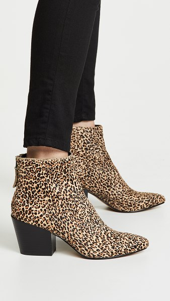 Dolce Vita coltyn block heel booties in leopard
