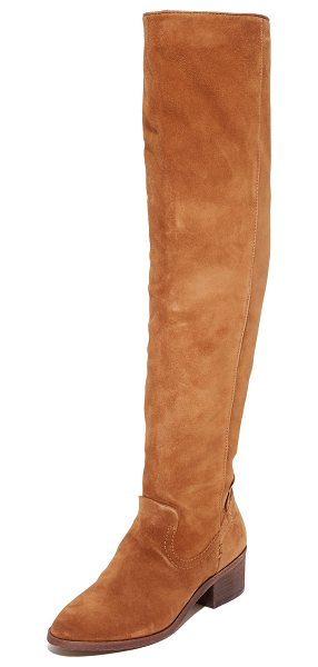 Dolce Vita kitt over the knee boots in dark saddle - Raised seams bring western flair to these suede,...