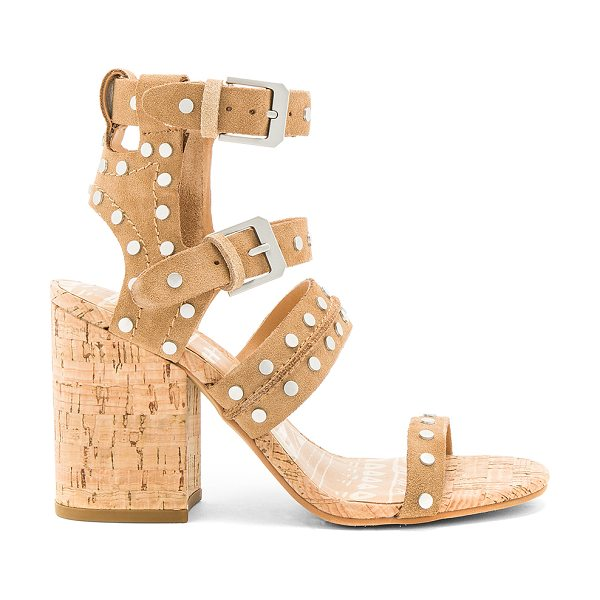 Dolce Vita Effie Sandal in brown - Suede upper with man made sole. Ankle straps with buckle...