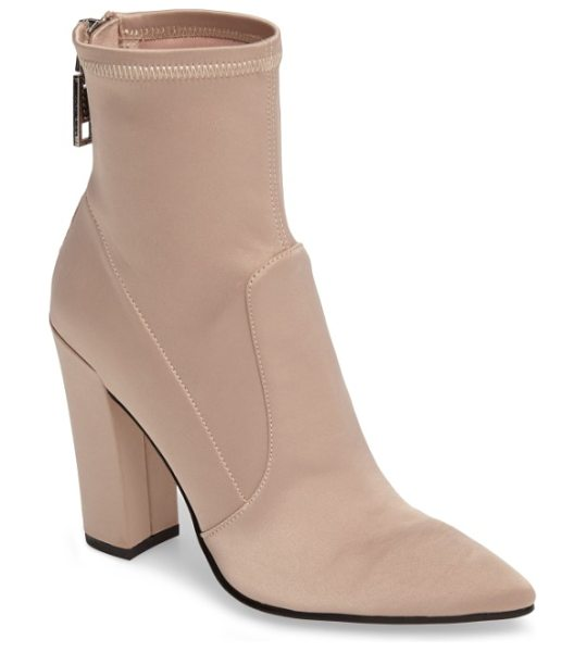 Dolce Vita elana stretch sock bootie in blush - A socklike fit and a perfectly pointed toe update a...