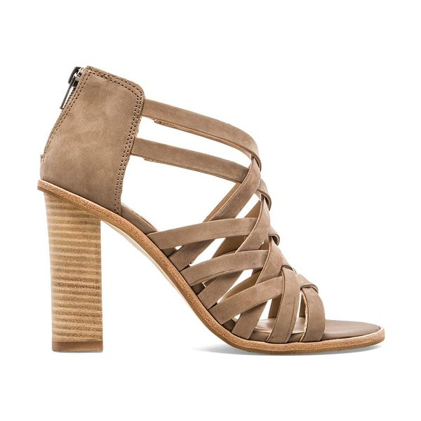 Dolce Vita Franney heel in taupe - Leather upper with man made sole. Heel measures approx...