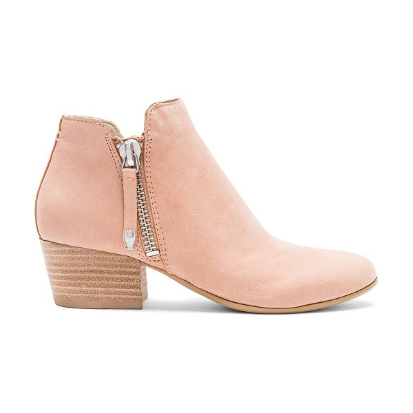 Dolce Vita Gertie Bootie in blush - Leather upper with man made sole. Double side zip...