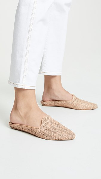 Dolce Vita grant mules in natural - Fabric: Woven straw Leather piping Slip-on style Flat...