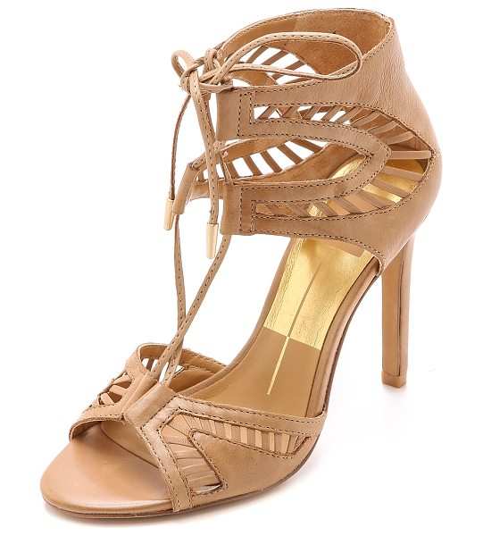 DOLCE VITA Henlie lace up sandals - Skinny strands accent the curved cutouts on these...