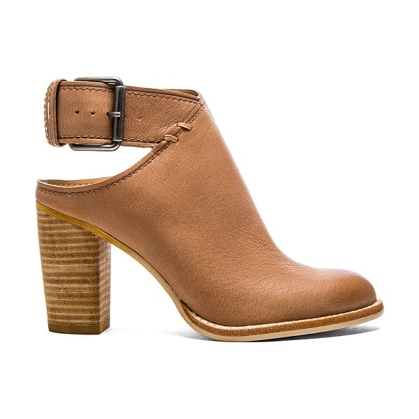 Dolce Vita Jacklyn bootie in tan - Leather upper with man made sole. Buckle closure. Heel...