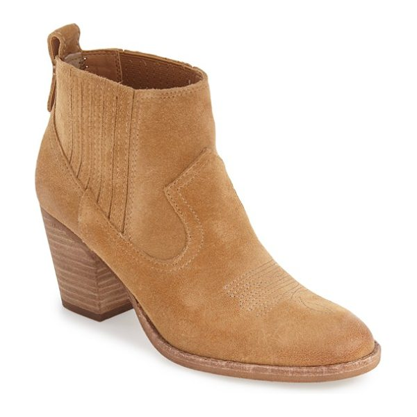 Dolce Vita jones chelsea bootie in camel suede - Discreet side gores ensure an impeccable fit for this...